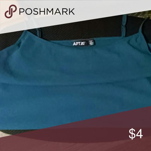 Apt 9 cami Green adjustable straps petite Apt. 9 Intimates & Sleepwear Chemises & Slips