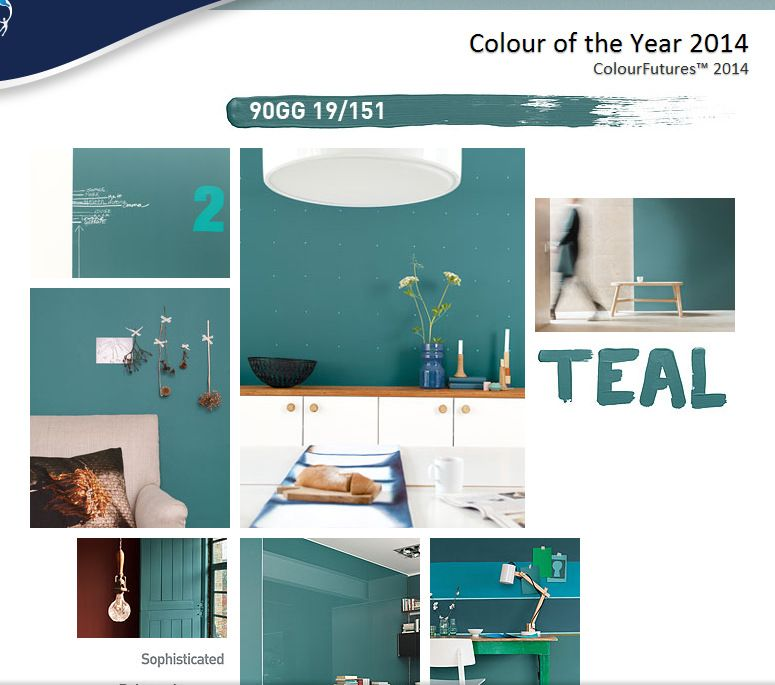 Dulux Kitchen And Bathroom Paint Colour Chart: Dulux Paint Color Of The Year 2014 Teal