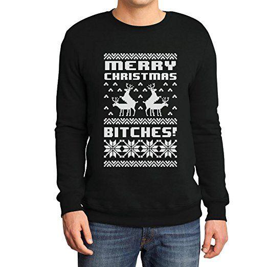 Merry Christmas Bitches Sweatshirt Weihnachtspullover Lustiger Weihnachtspulli