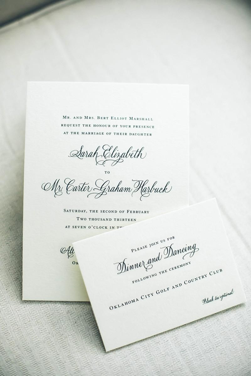 Classic wedding invitations. Photo by Heather Ann Design ...