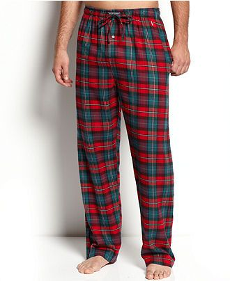 unparalleled real quality sleek Polo Ralph Lauren Sleepwear, Plaid Flannel Pajama Pants ...