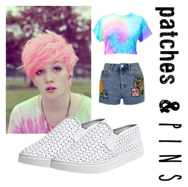 """"""""""" by tooikdyahuh ❤ liked on Polyvore featuring Topshop, Steve Madden and patchesandpins"""