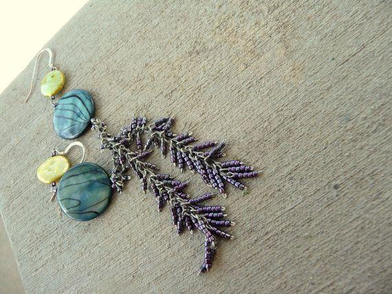 Shell Dangle Earrings. $10.00, via Etsy. Shop: Peaches on Fire!