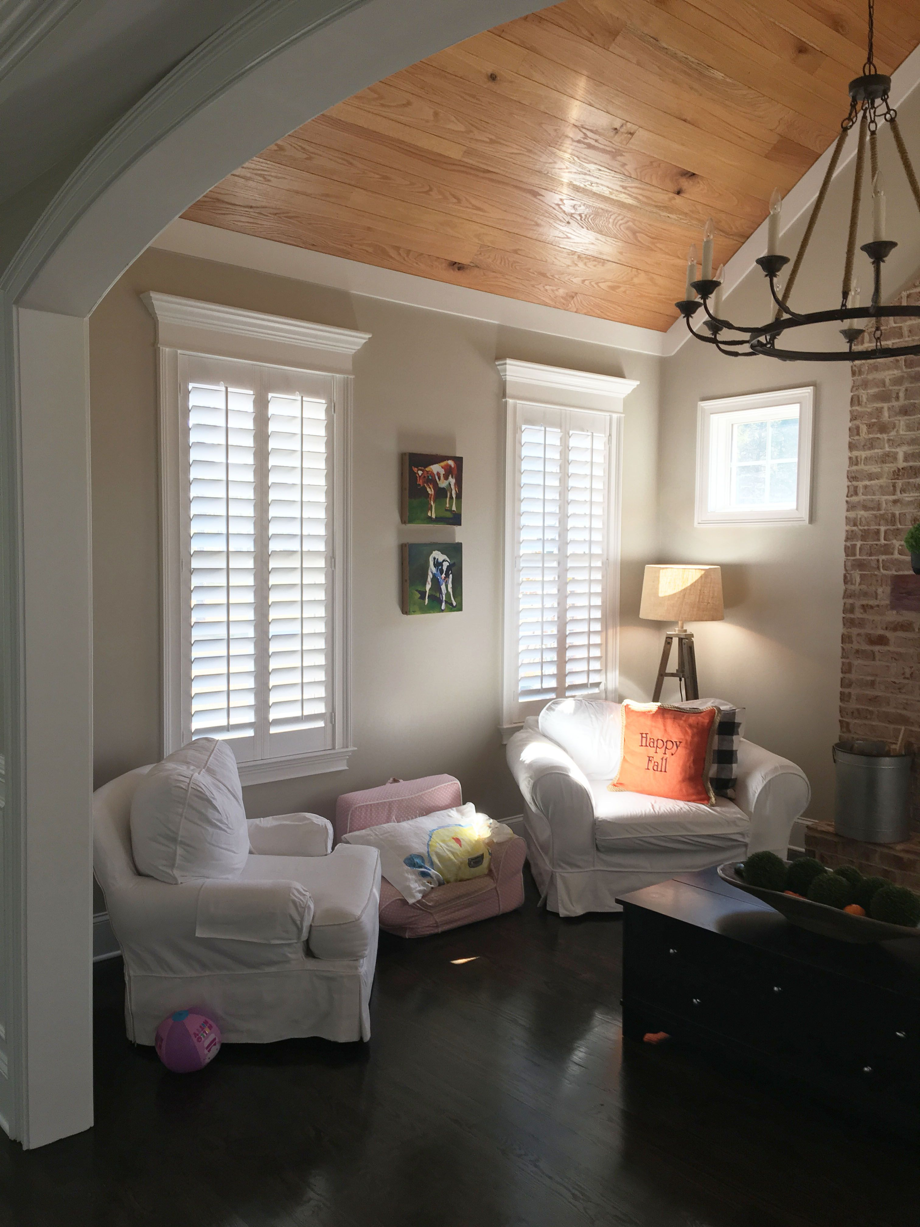 Pin On Improvement Ideas #plantation #shutters #living #room