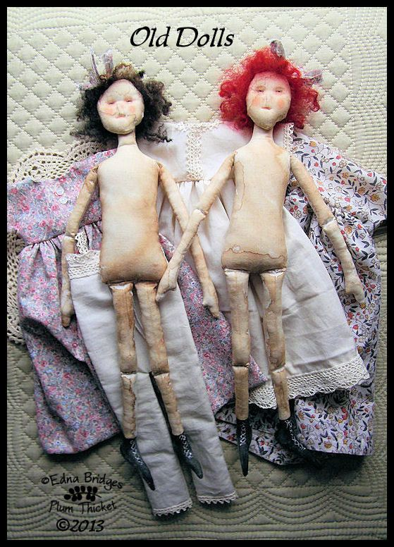 Old Dolls Primitive Folk Art EPattern  ETSY by PlumThicketPrims, $8.00