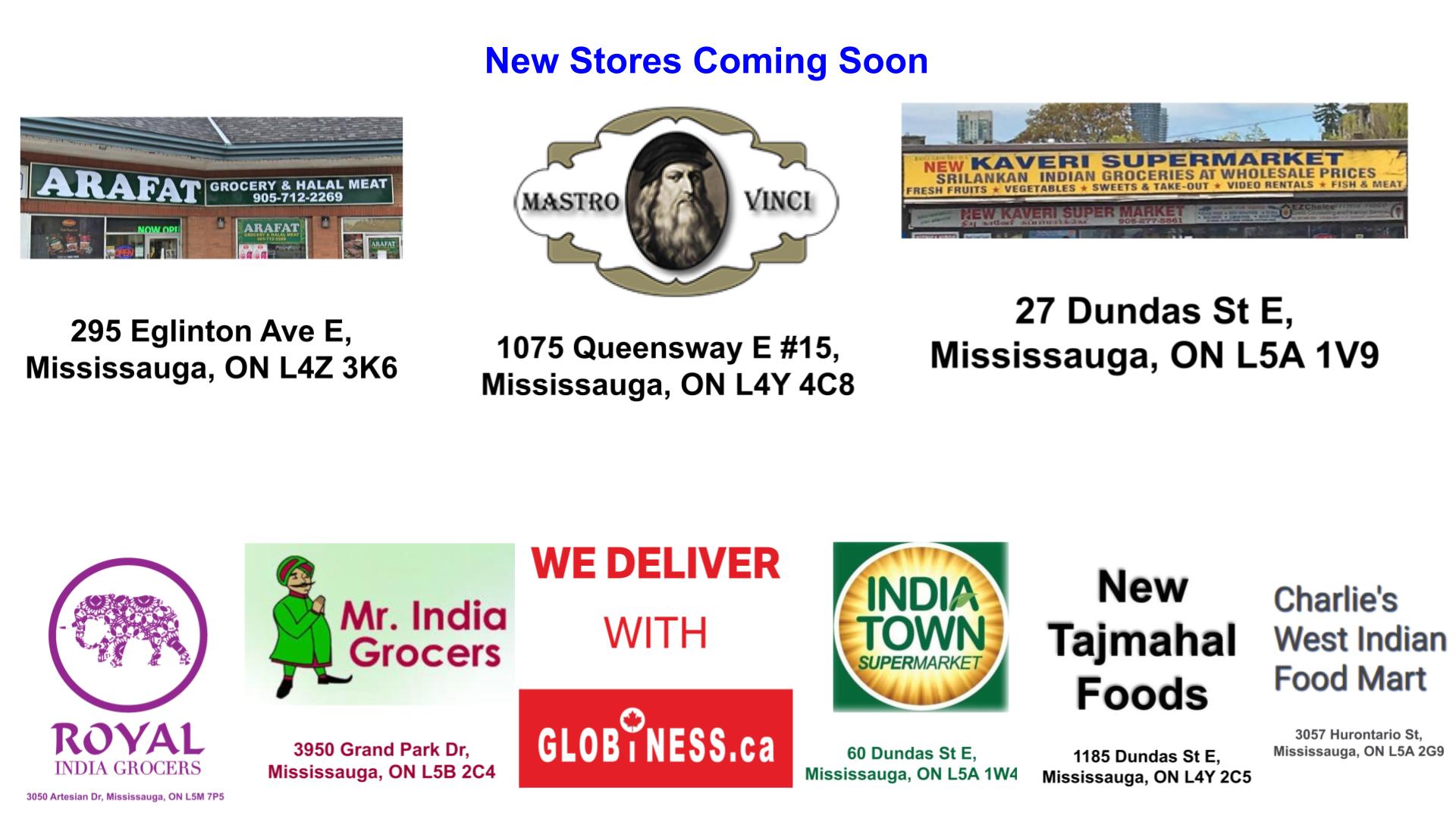 New Stores & Coming Soon Mastro Vinci, Arafat Grocery