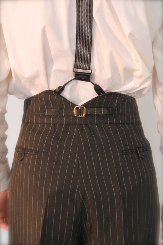 1940's fishtail back trousers, high rise trousers, 1930's ...