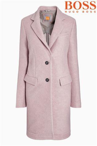Buy Boss Orange Pink Car Coat from the Next UK online shop | Cool ...