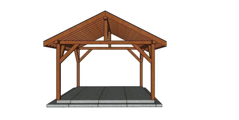14x14 Outdoor Pavilion Plans, Outdoor Pavilion Plans
