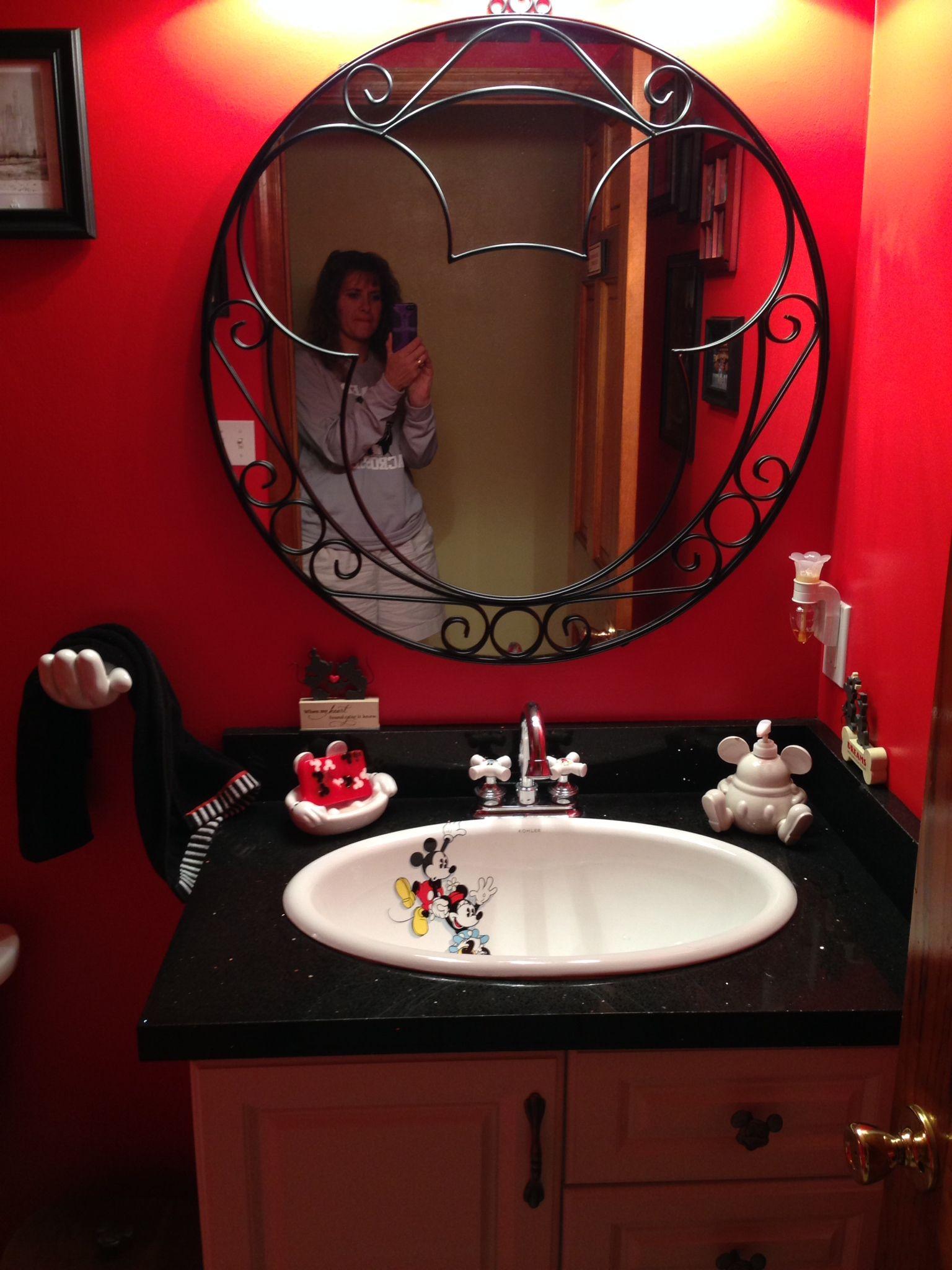 Disney Powder Room Disney Home Decor Round Mirror Bathroom Powder Room
