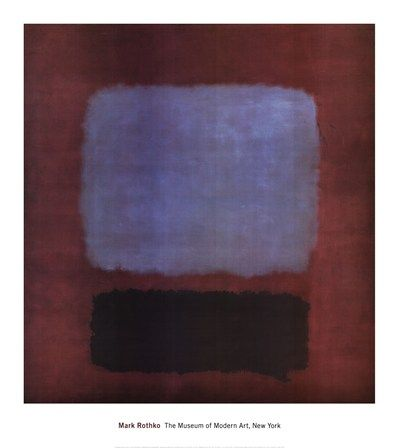 No. 37/No. 19 (Slate Blue and Brown on Plum), 1958 by Mark Rothko art print