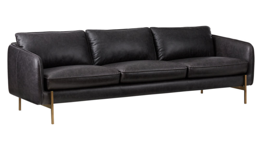 Hoxton Black Leather Sofa Reviews Cb2 Black Leather Sofas