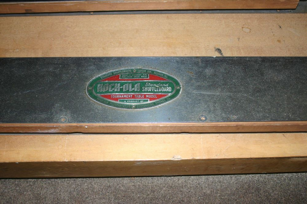 1948 Rock Ola Shuffleboard Table   Needs To Be Restored!