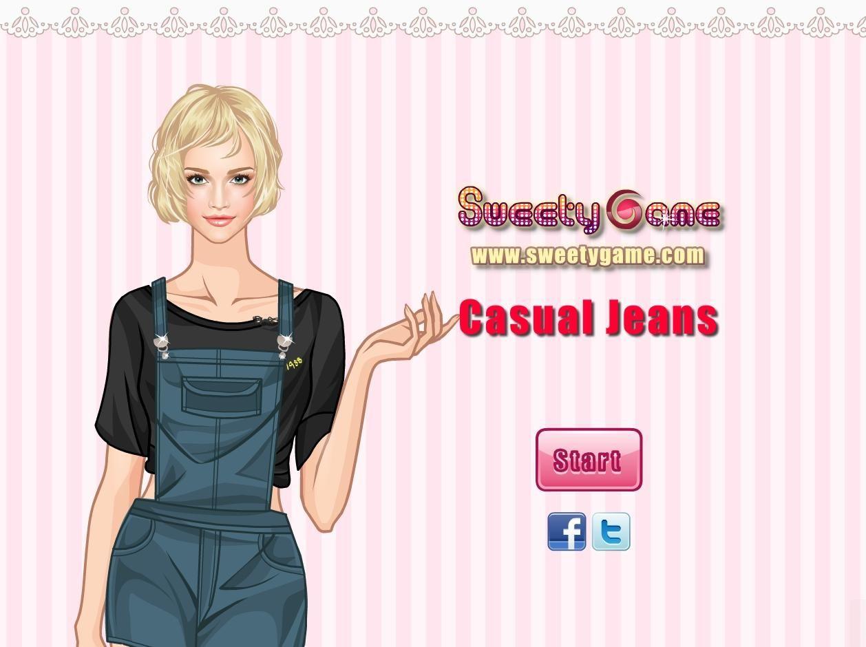 Przygotuj stylizację dla dziewczyny, która kocha nosić jeansy. Wybierz odpowiednie spodnie i dobierz resztę ubrań! http://www.ubieranki.eu/ubieranki/10082/casual-jeans.html