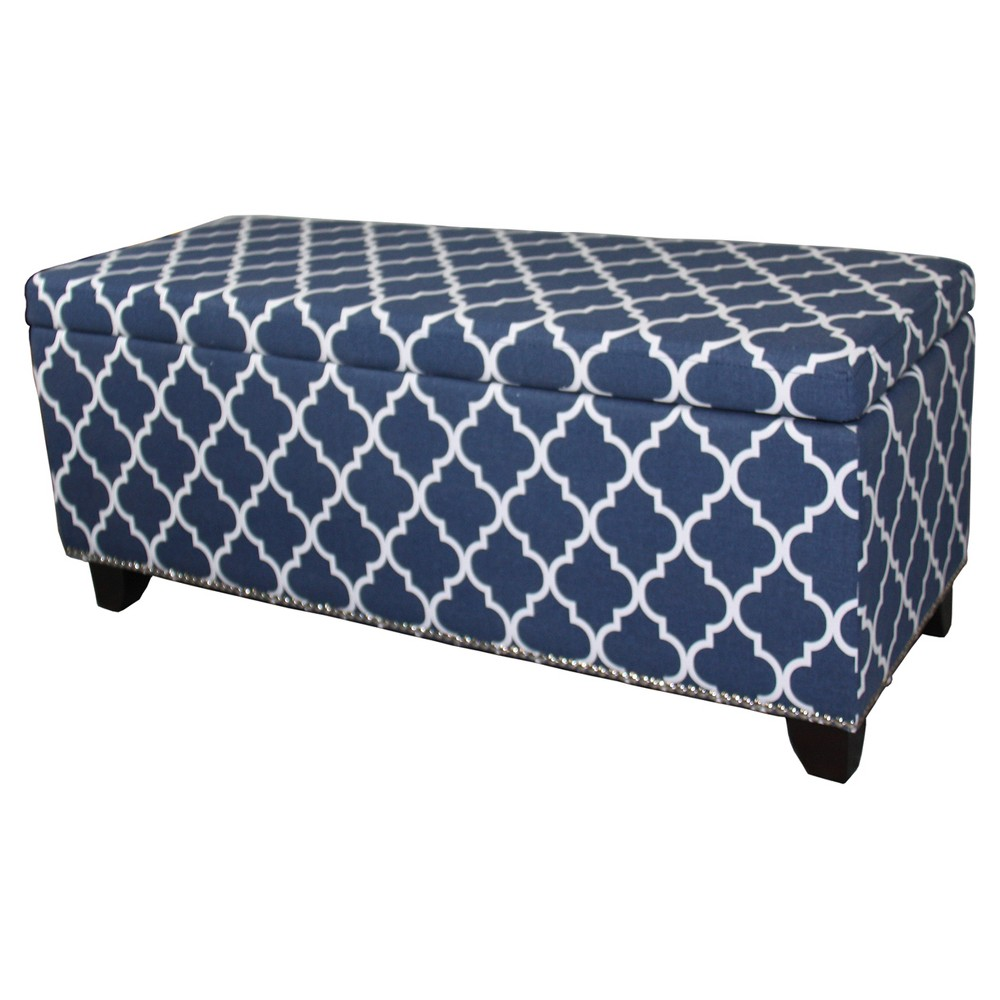 Groovy Storage Bench 18 Blue Ore International Products Squirreltailoven Fun Painted Chair Ideas Images Squirreltailovenorg