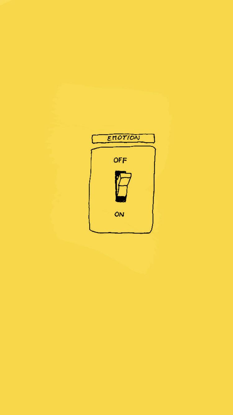 Keep Emotions Off イラスト 黄色 壁紙 携帯電話の壁紙 画面の壁紙