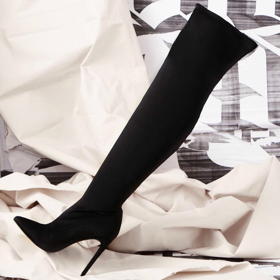 Steve Madden Stretchy Over The Knee Boots - Dominique