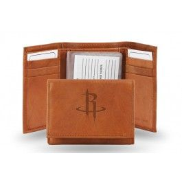 Houston Rockets Embossed Leather Trifold/Wallet