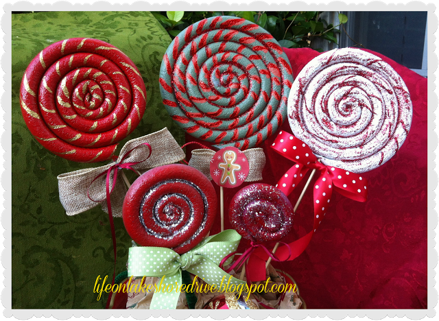 diy tutorial christmas lollipop ornaments quick and easy to make