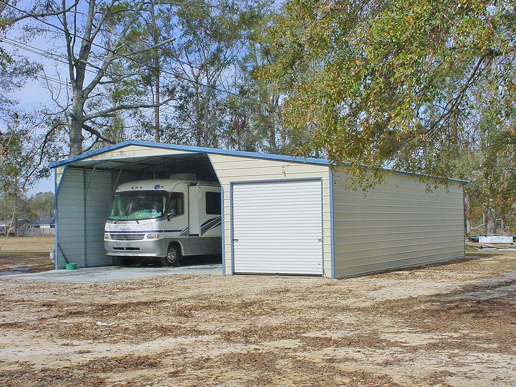 Carports make ideal rv covers or camper shelters and offer for Carport garages