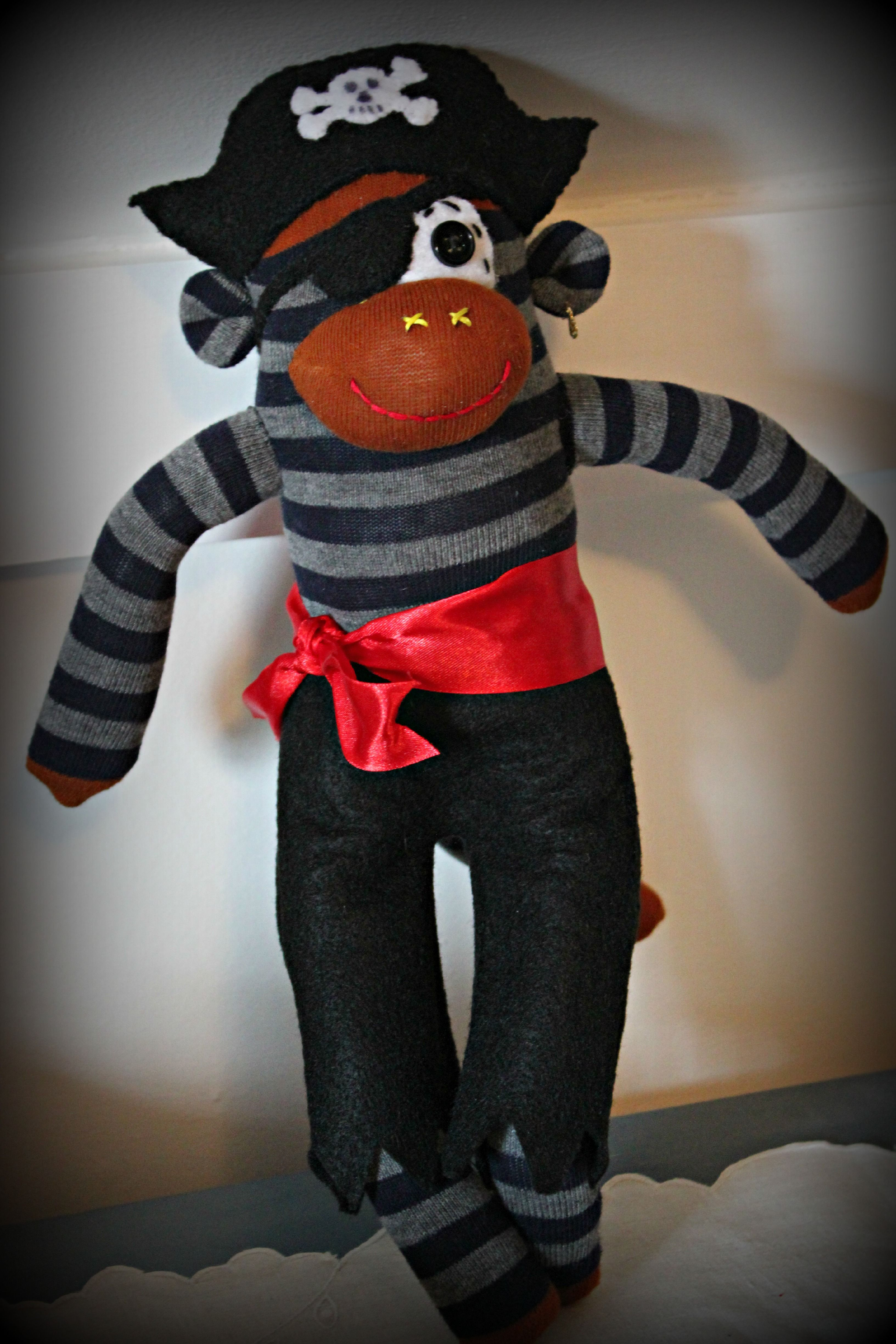 Pirate Monkey customs available at http://www.etsy.com/shop/KaysQuirkyCreations