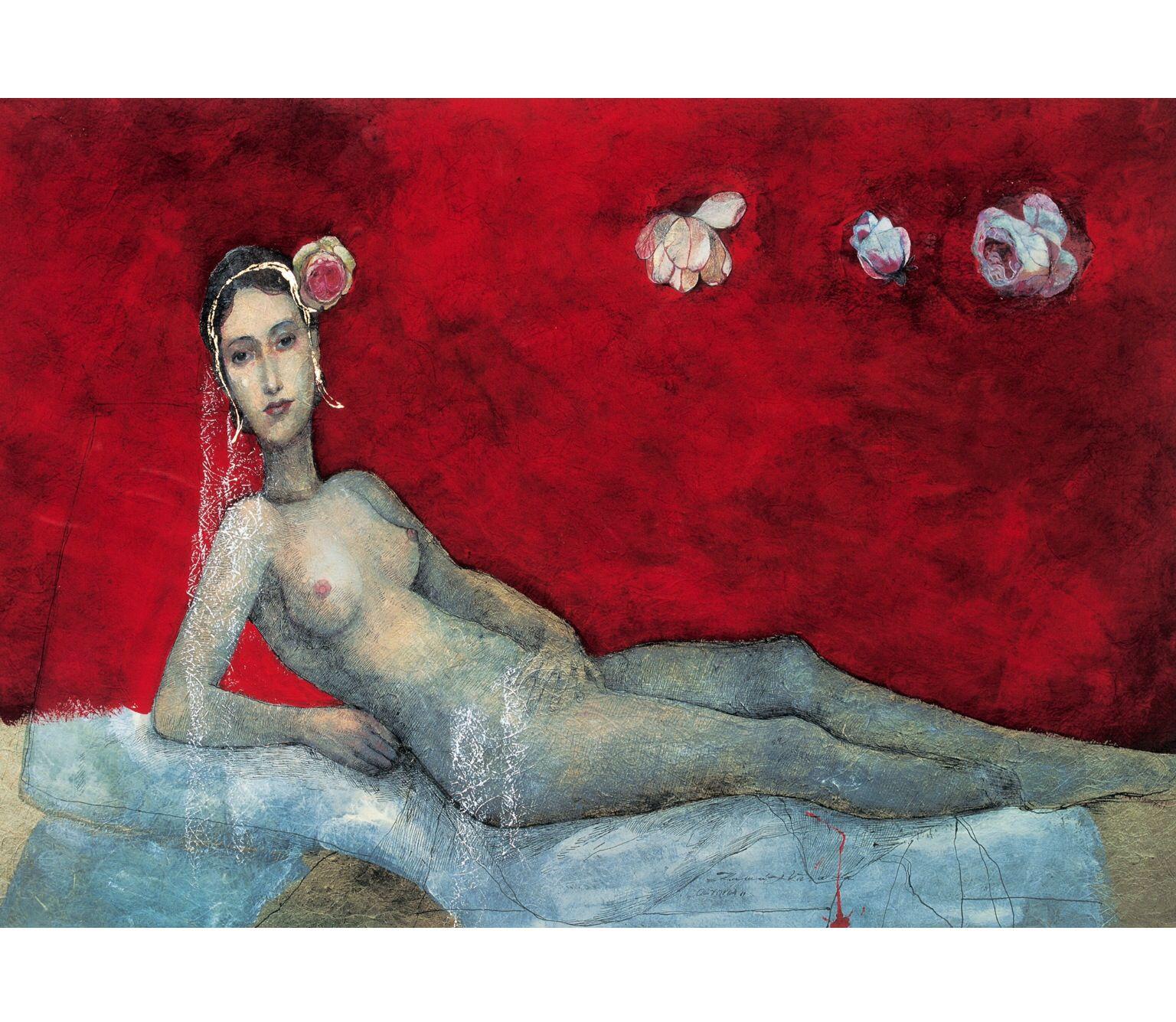 Katarina Vavrová / Olympia painting on japan paper www.katarina vavrova.sk