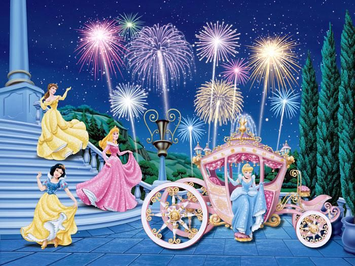 Lovely disney princess cinderella royal celebration wall for Disney princess wall mural