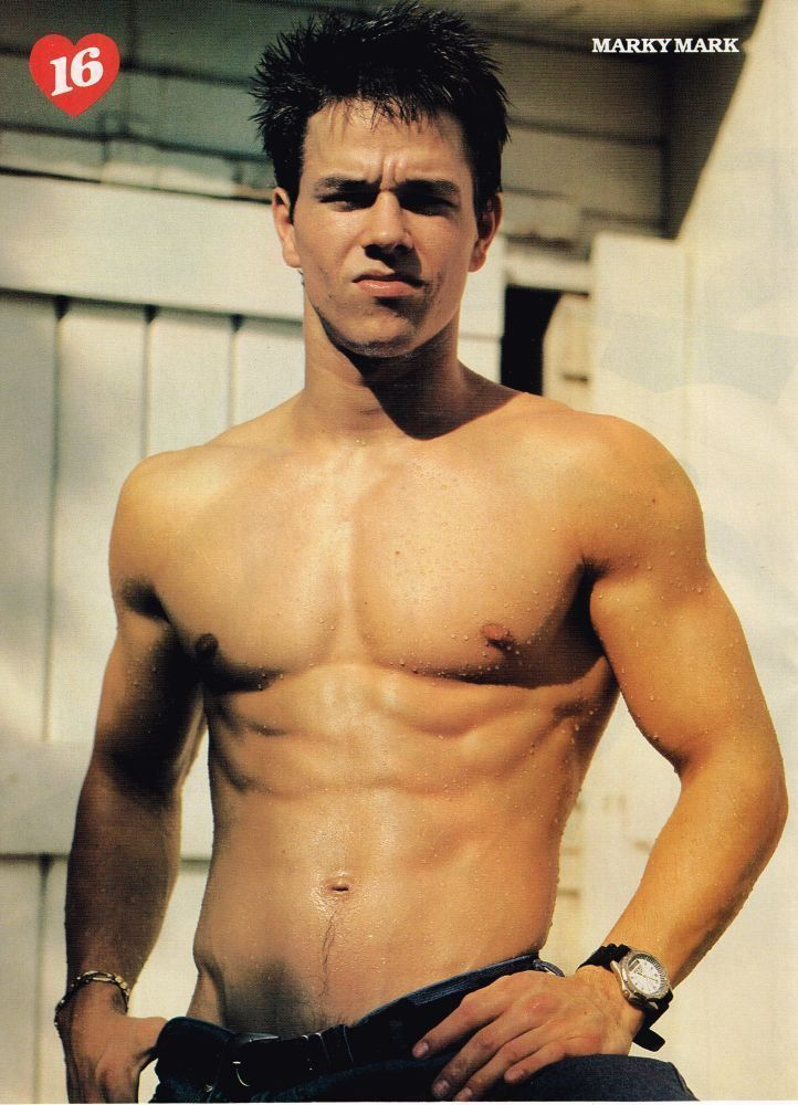 Marky Mark Wahlberg Pinup Shirtless Wet And Ripped