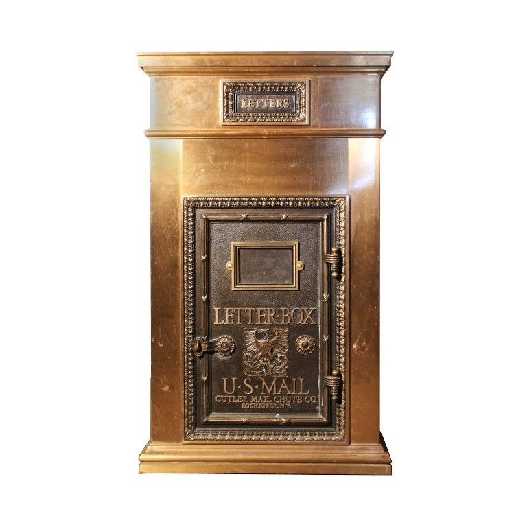 SOLD Amazing Antique Bronze US Mail Letter Box, Cutler Mail