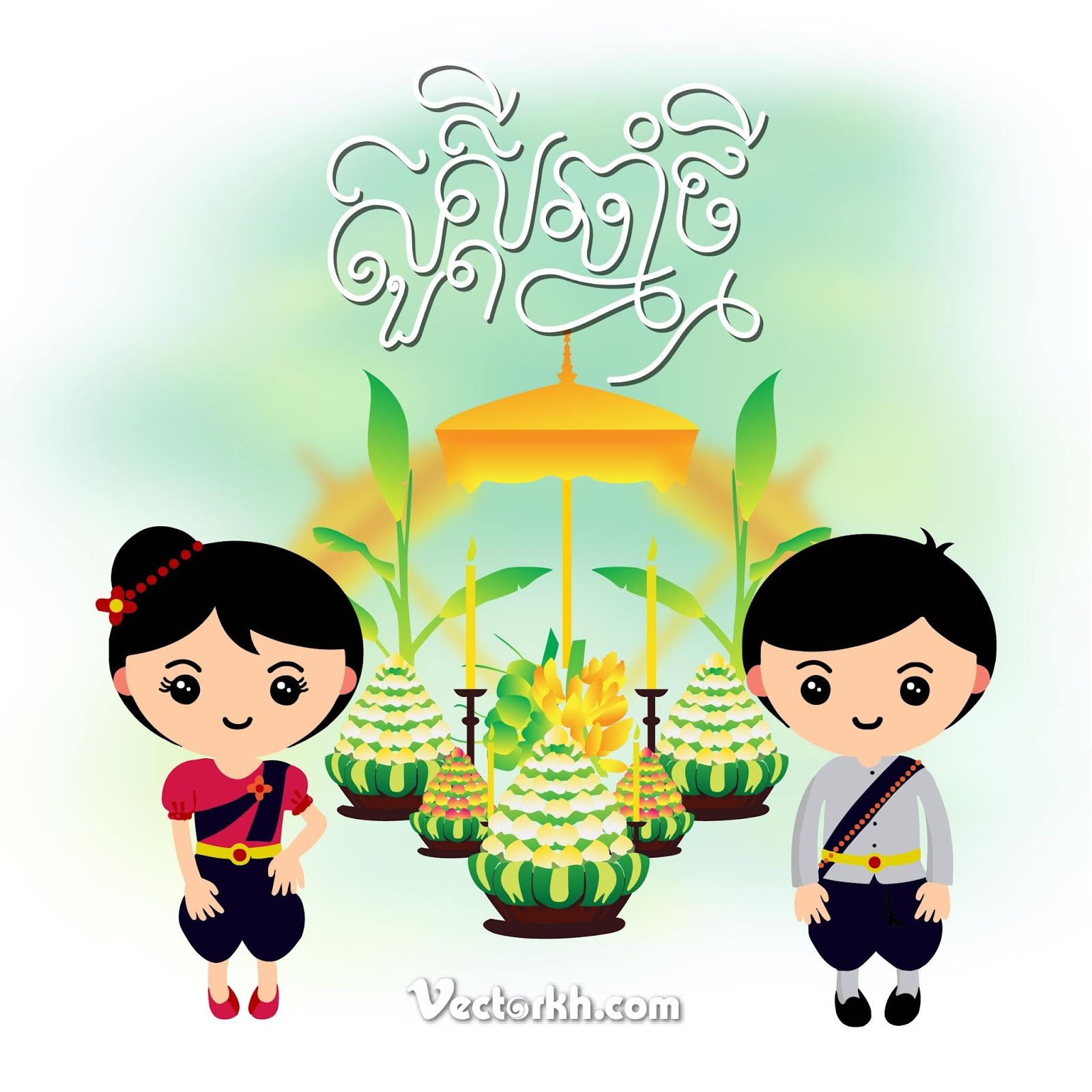 khmer new year 2019 vector poster khmer new year free