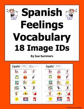 spanish feelings vocabulary 18 image ids spanish learning spanish classroom spanish lessons. Black Bedroom Furniture Sets. Home Design Ideas