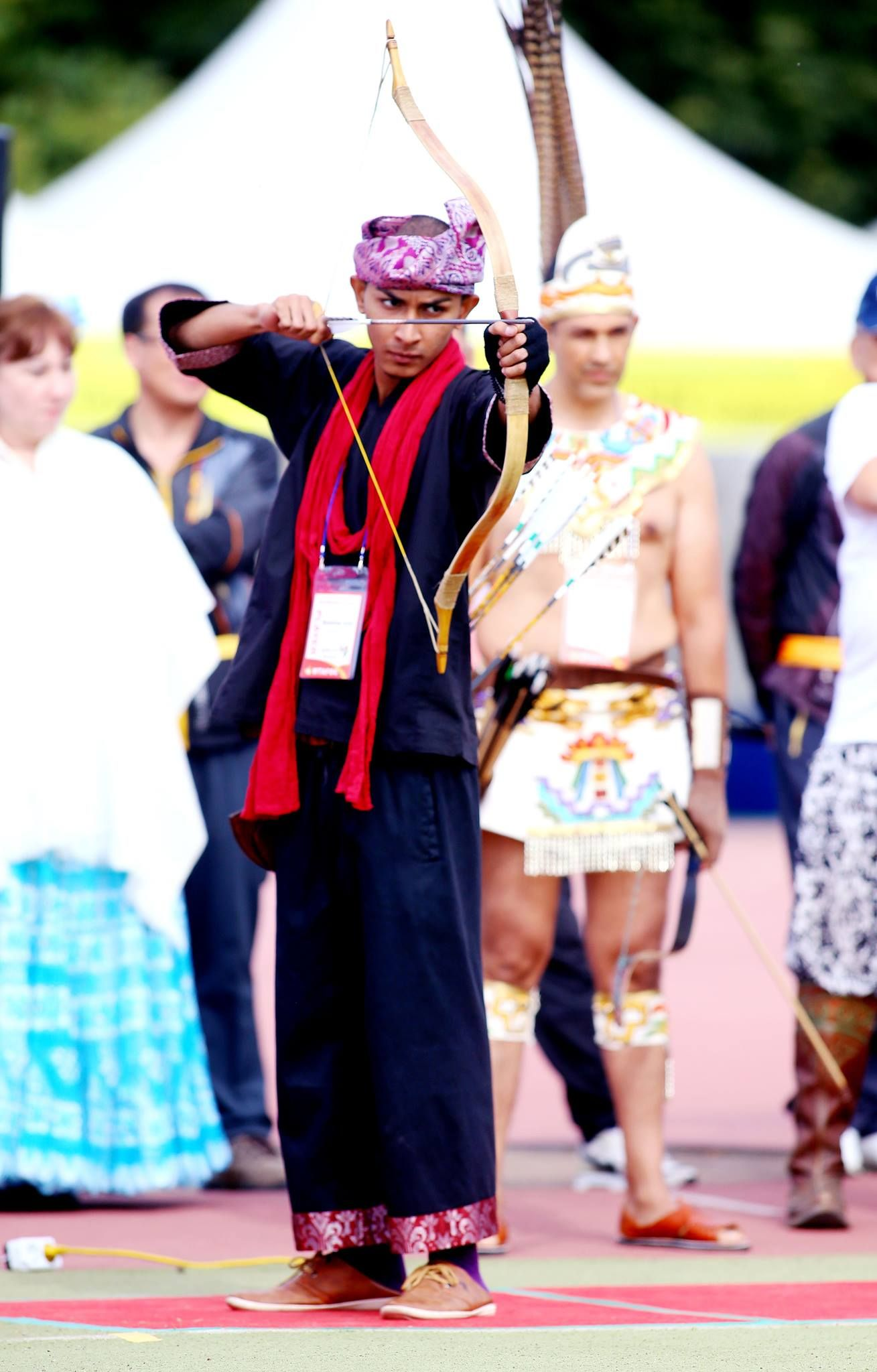 Rauuf Sheikh Fuad Bajrai. Malaysia representative at the World Traditional Archery Federation yearly competition in Korea 2013