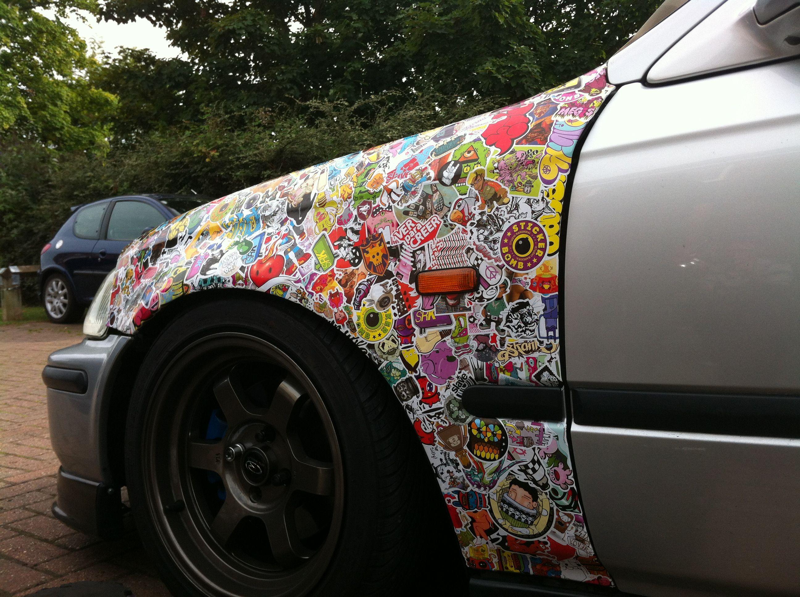 Sticker bomb car design - Sticker Bomb