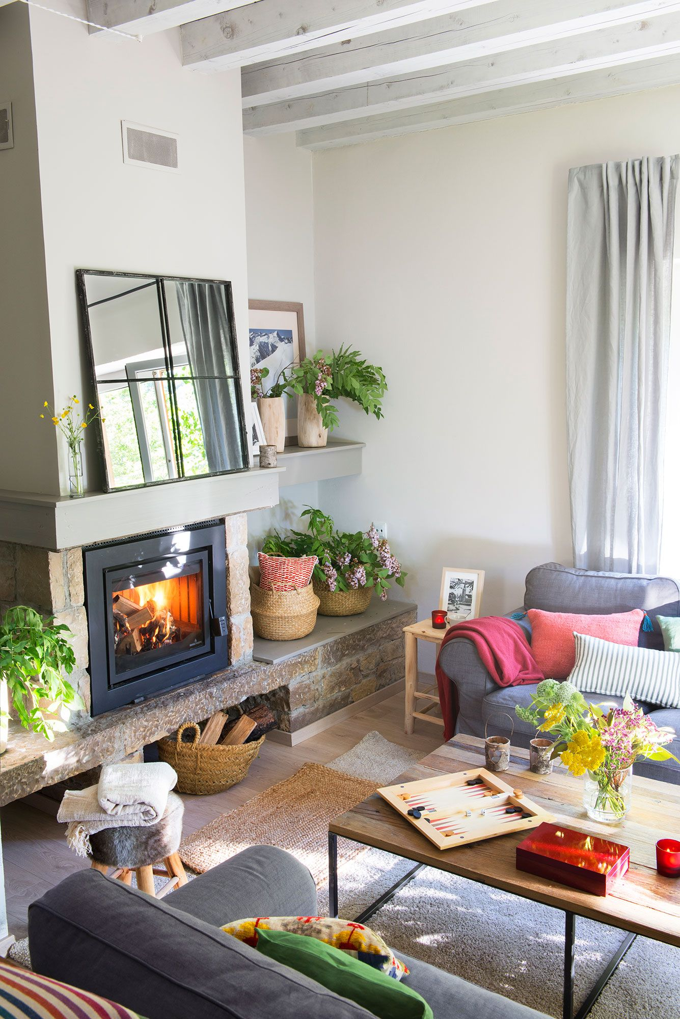 Salones Muy Modernos Muy Acogedor Salones Living Room With Fireplace Home