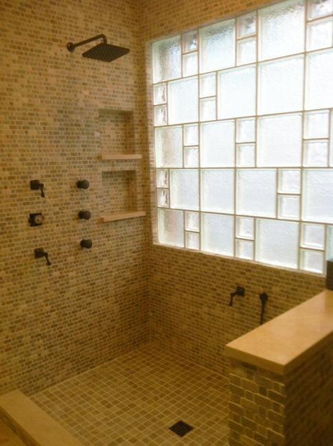 Glass Block Shower Blocks Wall, Bathroom Window Glass Block