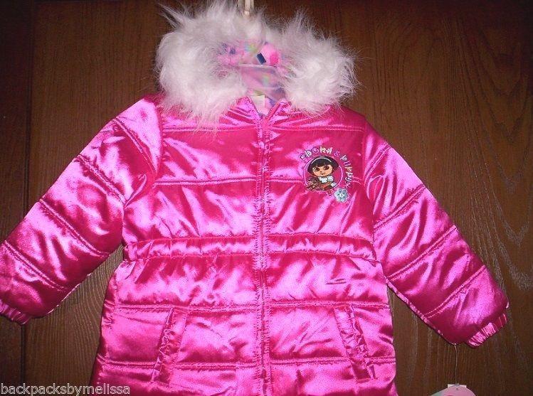 e5b338814a99 Details about DORA The Explorer Coat size 2T NeW Satin Pink ...