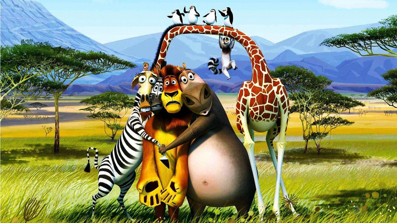 Desktop Wallpaper Hd Widescreen Free Download 1366x768 1 Madagascar Movie Cartoon Pics Movie Wallpapers