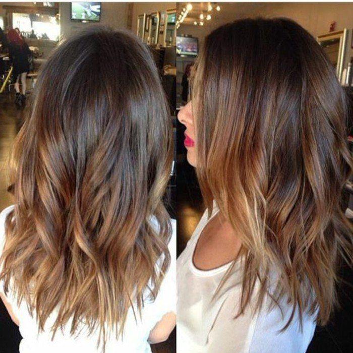 Balayage cheveux brun avant apres coiffures de mode moderne Balayage avant  apres