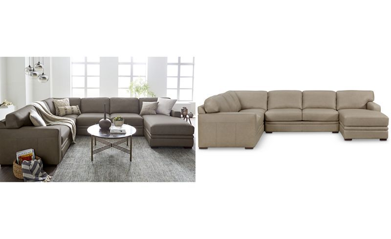 Fine Avenell 3 Pc Leather Sectional With Chaise Created For Ocoug Best Dining Table And Chair Ideas Images Ocougorg
