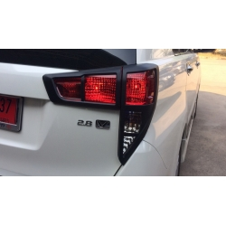 Tail Light Outer Trims Matte Black Glossy For Toyota Innova Crysta In 2020 Toyota Innova Toyota Car Mirror Cover