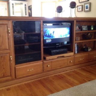 I have this entertainment center  for sale. Could be a room divider or a bar