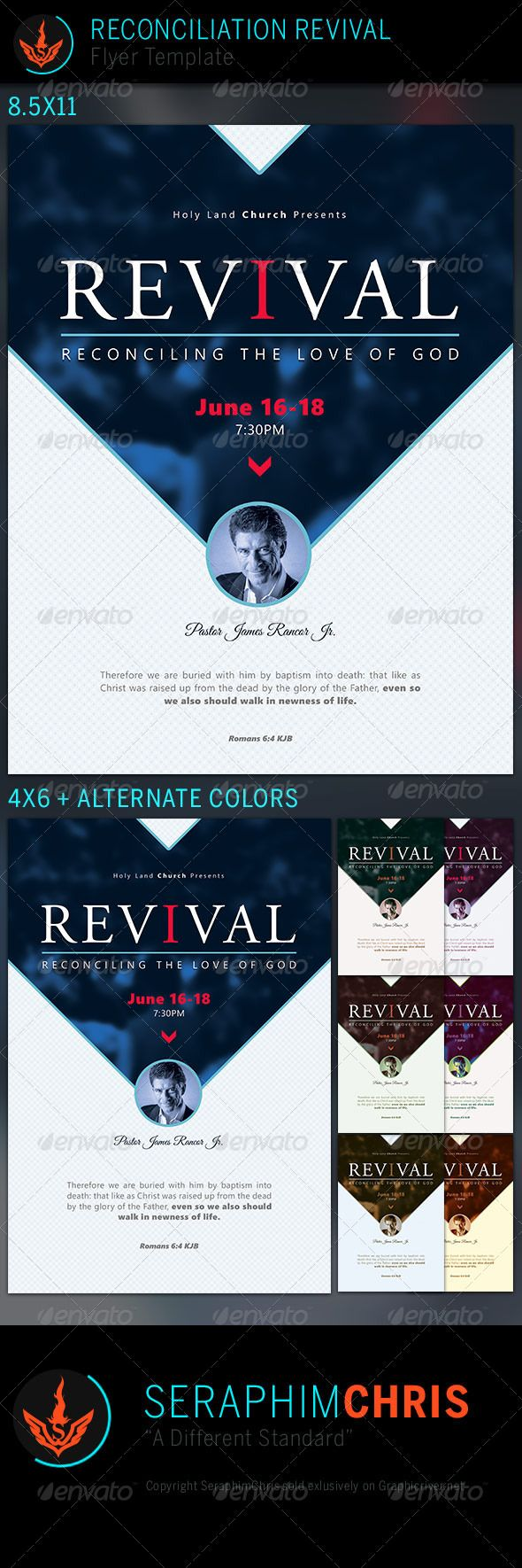 Reconciliation Revival Church Flyer Template Flyer Template - Free church revival flyer template