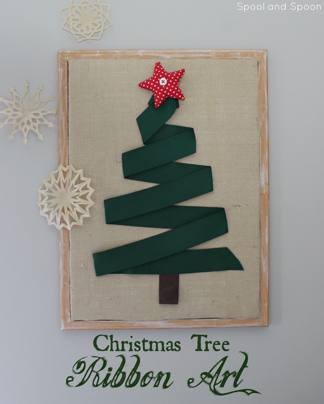 Christmas Wall Art Huge Christmas Tree Wall Art Made Out Of A Large Cork Board And