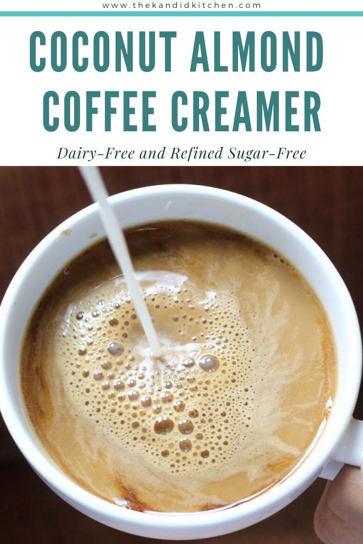 Coconut Almond Coffee Creamer Dairy Free Sugar free