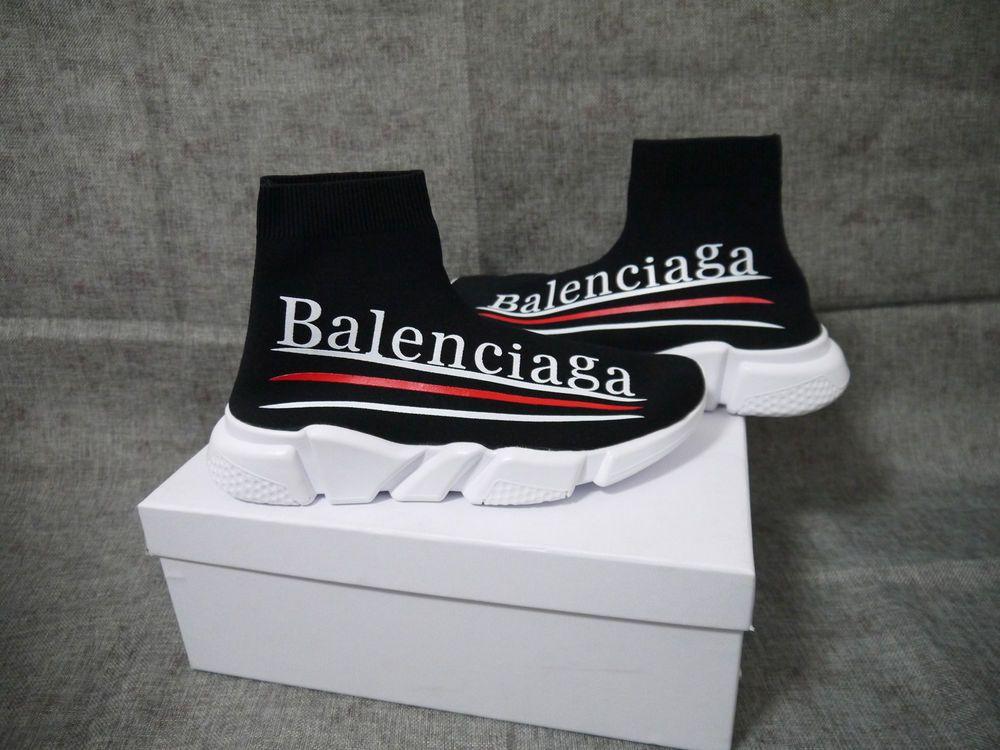 Balenciaga High Top Speed Trainer Shoes