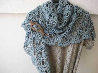 Ravelry: fanalaine\'s Elegant Shawl free crochet pattern (Lion Brand ...