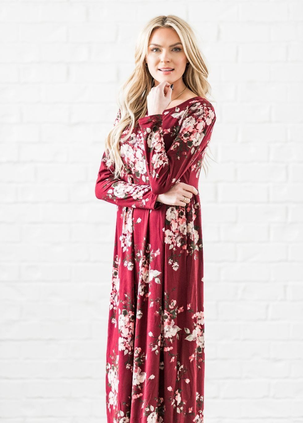 535c1a3477 AnnaBelle Loose Fit Floral Maxi Dress   ModLi   Halal Clothing in ...