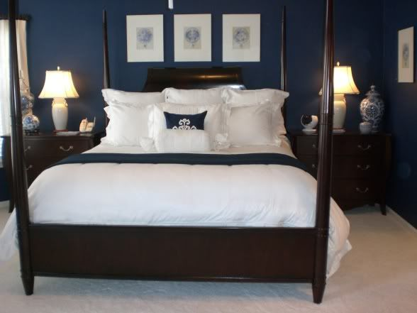 Dark Blue And Brown Bedroom Bedding For Dark Blue Walls Home