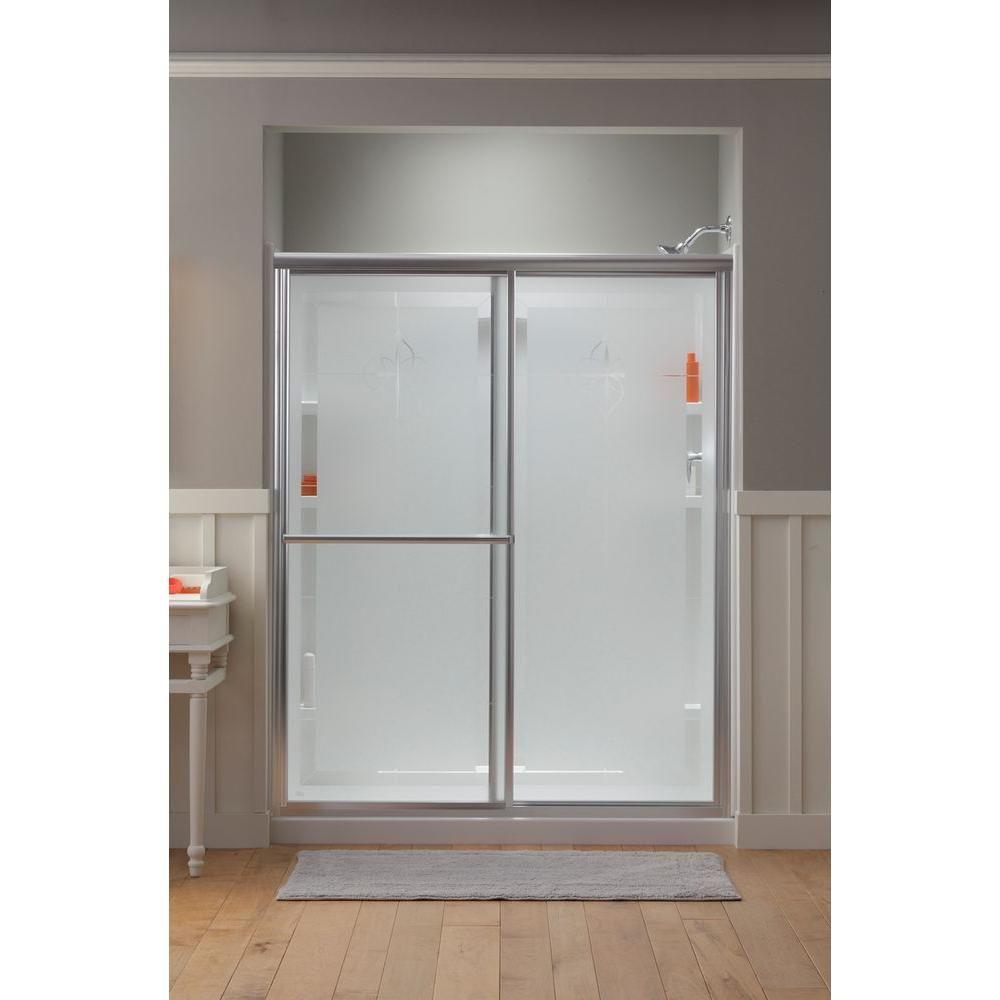 Sterling Deluxe 59 38 In X 70 In Framed Sliding Shower Door In