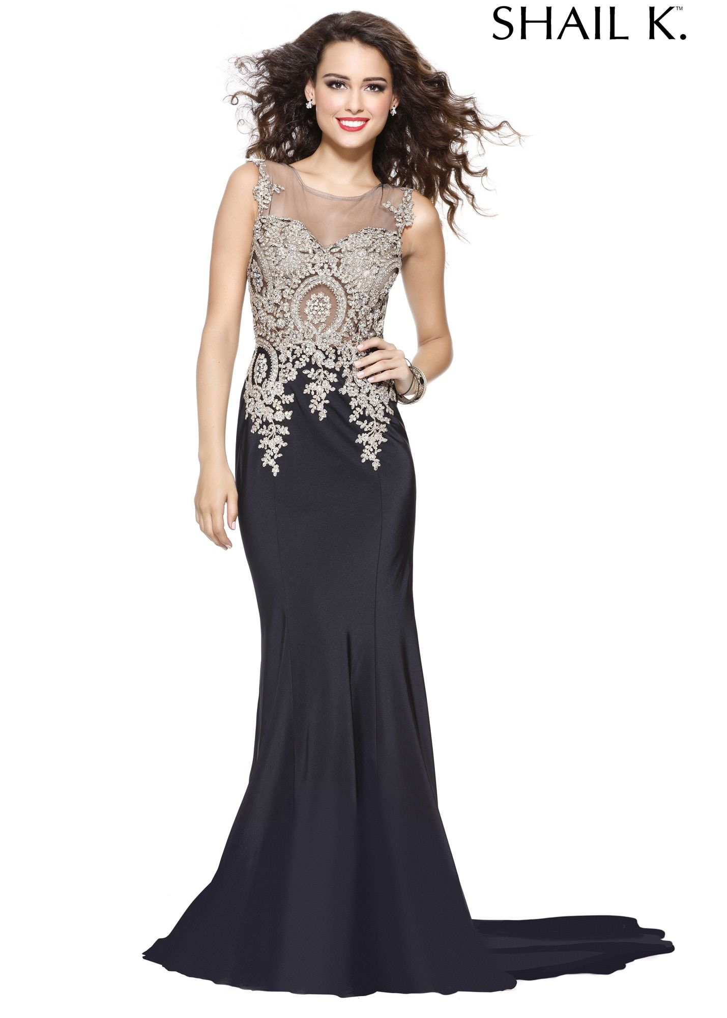 Shail K. 3940 Beautifully Embroidered Evening Gown | Prom Dresses ...